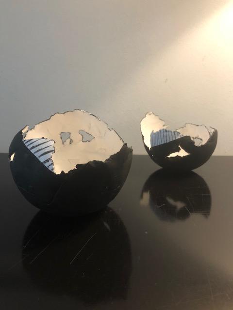 bowls papierklei/pigmenten